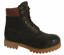 Timberland 6 Inch Mens Brown Leather Boots Lace Up Casual 32578 D122