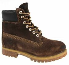 Timberland AF 6 Inch Authentic Mens Suede Leather Brown Boots 38568 D45