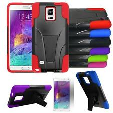 For Samsung Galaxy Note 4 Case Rugged Cover Kickstand + Screen Protector