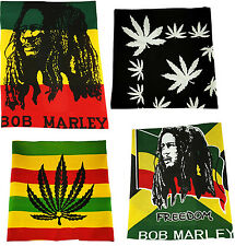 Rasta Bandana 100% Cotton Head Neck Scarf Tie Band BOB MARLEY FREEDOM WEED GANJA