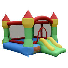 Inflatable Mighty Bounce House Castle Jumper Moonwalk Bouncer Without Blower