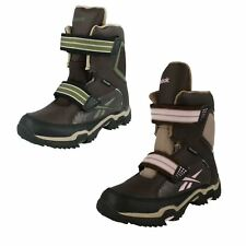 LADIES REEBOK SNOW BOOTS CANYONARO BROWN/PINK KHAKI