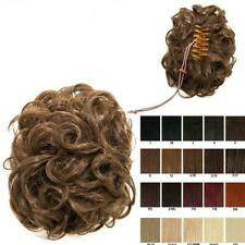 Claw clip in on clamp curly bun updo hairpiece Various colours