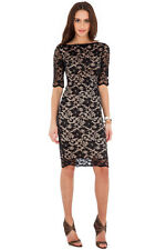 CATWALK Celeb Little Black Lace Midi  Stretch Cocktail Dress Rocks Boutique