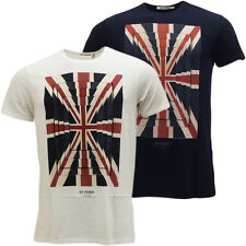 Mens T-Shirts Ben Sherman Union Jack T Shirt Short Sleeve M L XL XXL