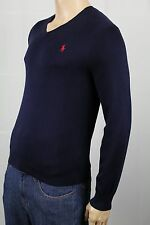 Polo Ralph Lauren Navy Blue Pima Cotton Sweater Red Pony NWT