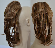 32cm Straight Hairpiece with Plaits Clip-on Hair Piece ~ Unique Gorgeous Style ~