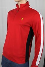 Polo Ralph Lauren Red 1/2 Half Zip Pima Cotton Mockneck Pullover NWT