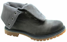 Timberland Womens Authentics Suede Leather Roll Top Grey Boots 8308A U46