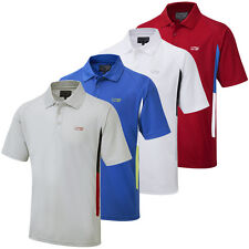60% OFF RRP Cypress Point Mens CoolPass Modern Contrast Panel Golf Polo Shirt