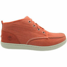 Timberland Newmarket Cupsole Orange Canvas Chukka Mens Lace Up Shoes (6235A D26)
