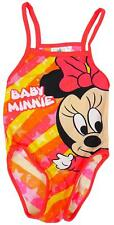 Girls Minnie Mouse Stripe Toddler Swimming Costume Swim Suit 30 to 36 Months
