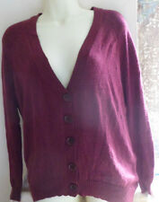 NEUF MOHAIR femmes CARDIGAN PRUNE TAILLE S-M SO SOFT presque SOLD OUT