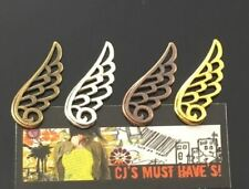 SALE 50 ANTIQUE GOLD SILVER BRONZE RED COPPER ANGEL FAIRY WINGS CONNECTOR CHARMS