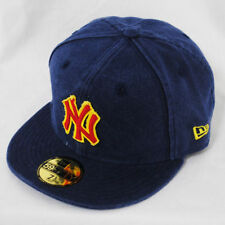 New Era 59fifty NY Yankees Lona Azul Lavado Ajustable Visera Plana 5950 Gorra