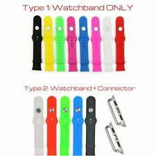 Silicone Band Strap Bracelet Fitness Replacement for Apple Watch iWatch 42/38mm