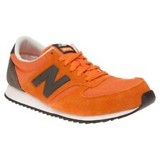 New Mens New Balance Orange Grey 420 Suede Trainers Retro Lace Up