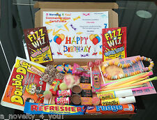 Retro Sweet Gift Box Personalised Birthday 21st 30th 40th 50th Thank You Heart