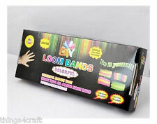 COMPLETE KITS OF 600 RUBBER LOOM BANDS BRACELET MAKING WHOLESALE BULK JOB LOT