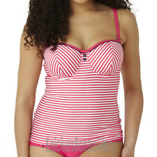 Panache Cleo Lucille Padded Bandeau Tankini Top Coral CW0191 NEW Select Size