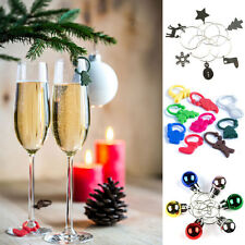 Christmas Wine Glass Charms Identifiers Xmas Decorations Stocking Filler Gift
