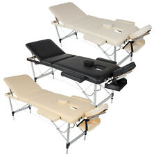 Aluminium Massageliege Massagetisch Massagebank Therapieliege klappbar 3 Zonen