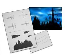 Step by Step Stencil AS-058 Landschaft ~ UMR Airbrush Schablone