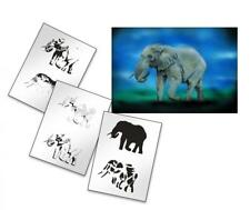 Step by Step Stencil AS-155 Elefant ~ UMR Airbrush Schablone