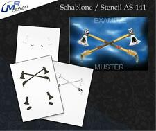 Step by Step Stencil AS-141 axes ~ UMR Airbrush Schablone