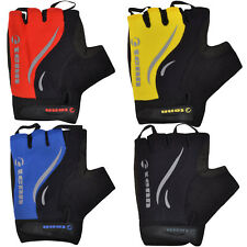 Tenn Mens Coolflo Fingerless Padded Gel Cycling Cycle Bike Bicycle Mitts Gloves