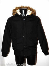 PENN - RICH by WOOLRICH GIUBBOTTO CORDURA MILITARY JACKET BOMBER NERO TG S