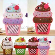 Cute Soft 3D Ice Cream  Silicone Case Cover for Apple iPhone 5S 6 6S 6Plus
