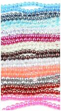 6mm Round Translucent Glass Drawbench Style Beads (70 pieces)