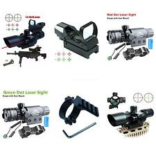 Tactical 2.5-10X40 Rifle Scope /Red Laser &Holographic Green /Red Dot Sight HYSG