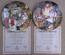 """ROYAL DOULTON - """"CHRISTMAS COUNTRY CRAFTS"""" PLATE COLLECTION FROM ORIGINAL PRATT"""