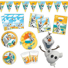 Disney's FROZEN Summer OLAF Snowman Party Plates Napkins Cups Tableware Listing