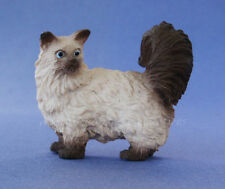 Miniature Dollhouse Doll House Siamese Cat Looking Back 1:12 Scale New
