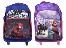 CHILDRENS BACKPACK/SUITCASE TROLLEY IN DISNEY FROZEN & MARVEL SPIDERMAN B0113041