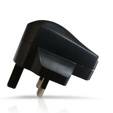 BLACK MAINS CHARGER WALL PLUG USB POWER ADAPTER FOR VARIOUS MOBILE PHONES