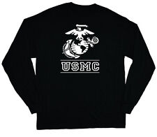 long sleeve t-shirt for men US Marines usmc marine corps black tee shirt