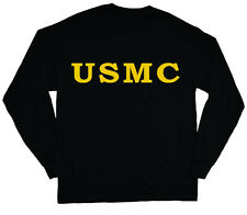 long sleeve t-shirt for men US Marine corps t-shirt usmc tee shirt yellow black