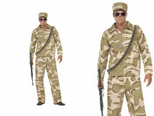 Army Guy Mens Commando Fancy Dress Costume Military Outfit M,L