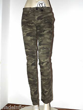PENN RICH By WOOLRICH PANTALONI DONNA CAMOUFLAGE TG. XS S MIMETICO MILITARE