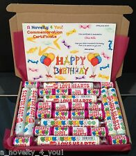 Retro Love Heart Gift Box Personalised Birthday 21st 30th 40th 50th Thank You