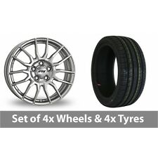 """4 x 17"""" ATS StreetRace Silver Alloy Wheel Rims and Tyres -  215/40/17"""