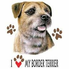 I Love My Border Terrier T Shirt Pick Your Size