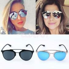 Fashion Unisex Women Men Mirror Lens Sunglasses UV400 Glasses Vintage Retro