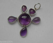 Amethyst, Onyx & Moonstone Mix Baby turtle Silver Pendants (NEW)