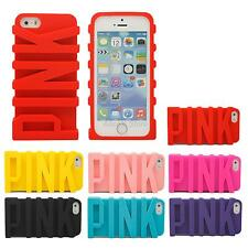 Luxury 3D Cute PINK Fashion Soft Silicone Case Cover Skin For iPhone 5S 6S 6Plus
