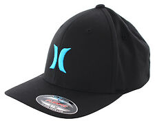 HURLEY ONE AND ONLY BLACK WHITE FLEXFIT Cap 2016 black/cyan Kappe